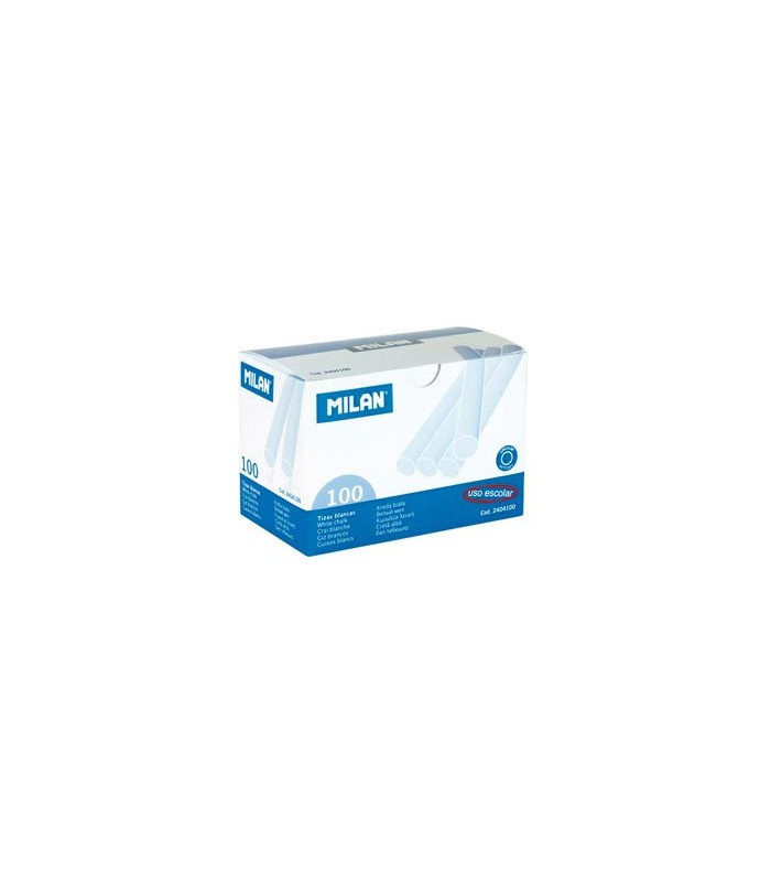 Caja 100 Tizas Blancas