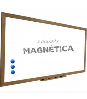 Pizarra Blanca magnética marco madera