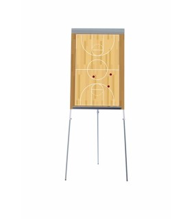 Tableau de chevalet champ de basket-ball