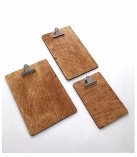 Carta menú madera