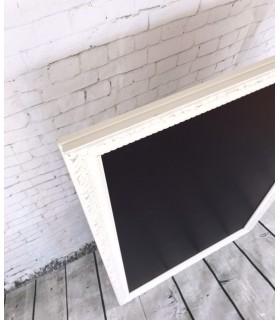 Pizarra Vintage marco Blanco