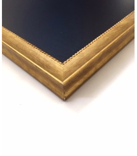 Pizarra Marco perlas doradas