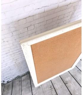 Corcho marco vintage blanco