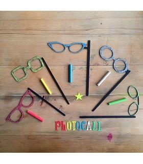 Pizarra Photocall Gafas